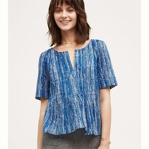 Anthropologie Maeve Orchid Blue Top